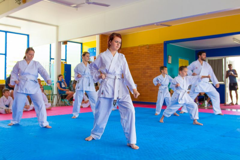 white belt martial arts practitioners