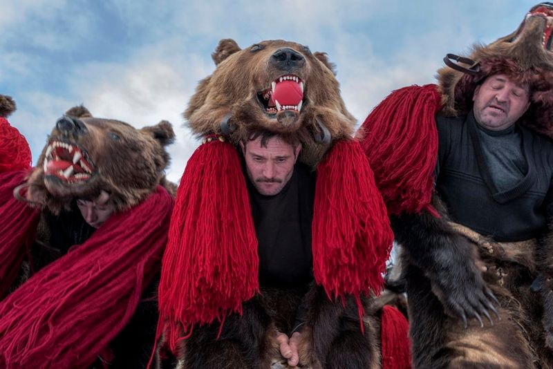 bear dance folk custom in moldova romania