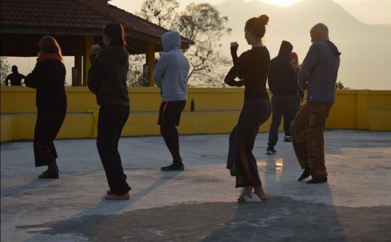 qigong practice in open air