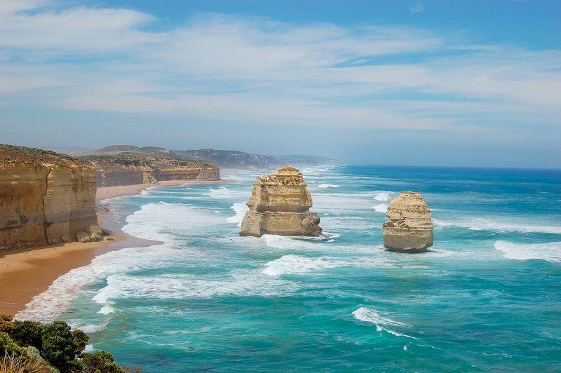 sea and rocks in australia