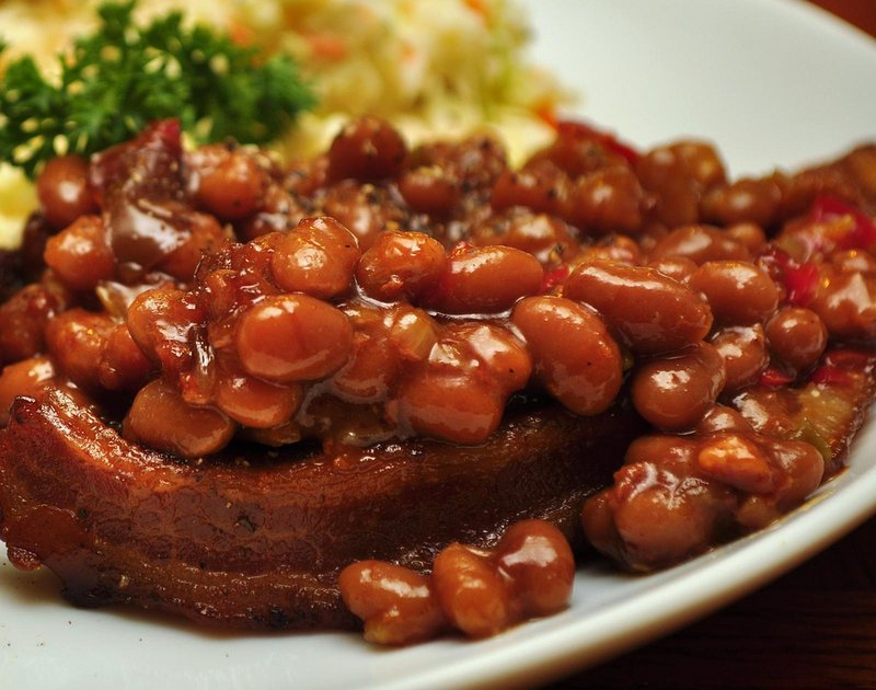 coffee baked beans with toast