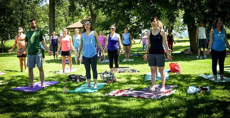 free to breathe yoga in the park