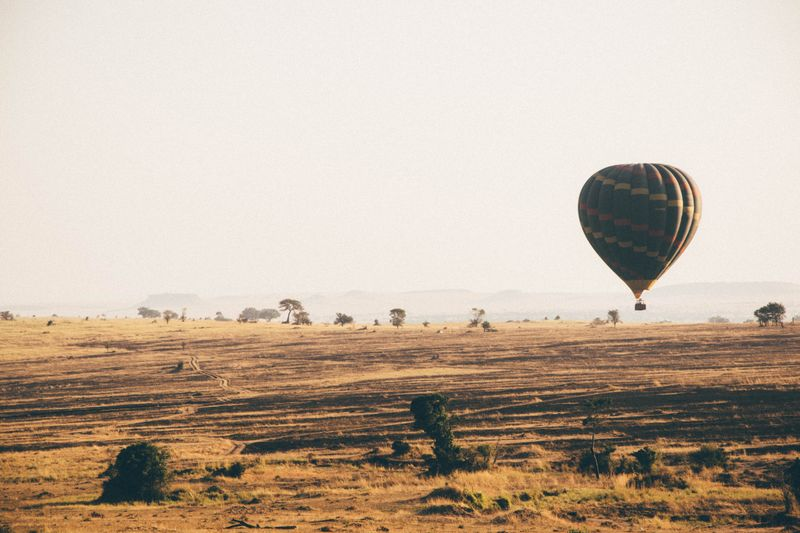 hot air balloon safari in africa