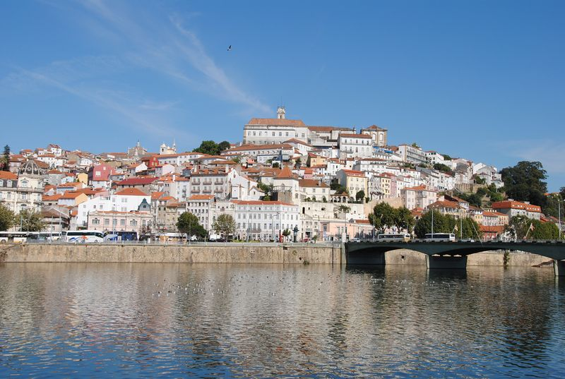 coimbra city overview from the river