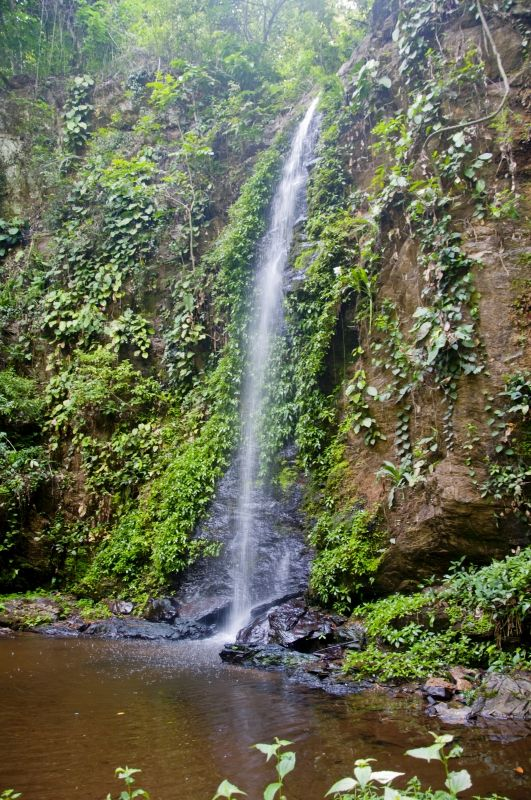 waterfall in kyabobo national park