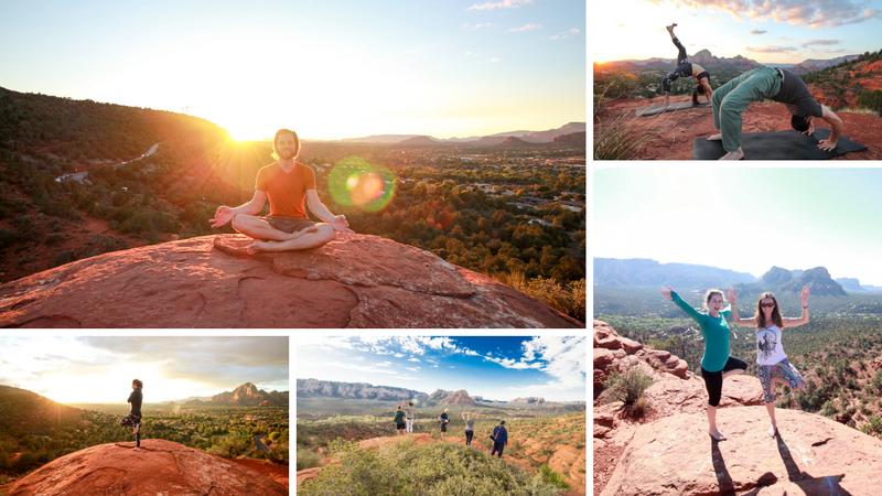 private hiking and yoga in sedona