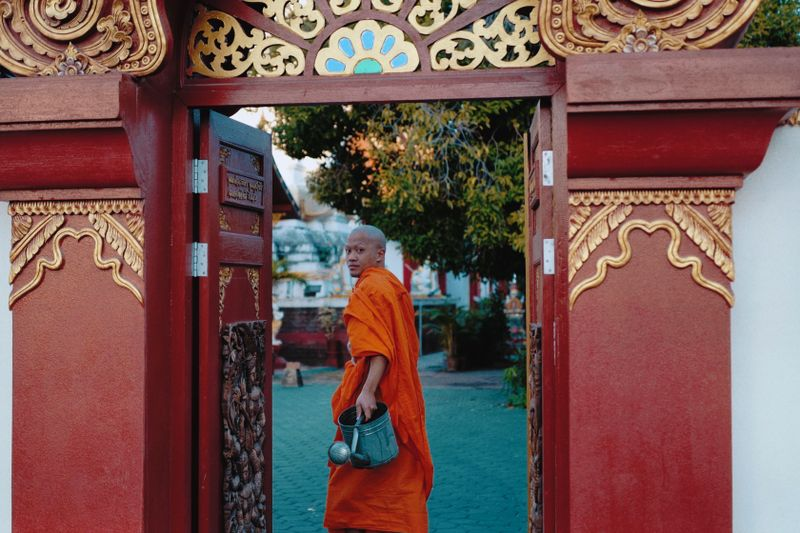 monk in the gate