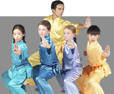 Kids practicing Tai Chi