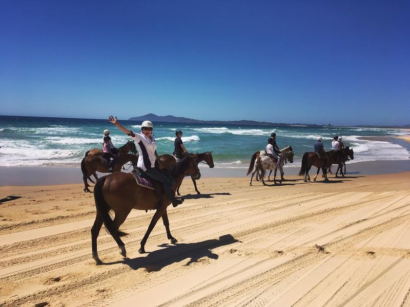 Australia beach horse riding