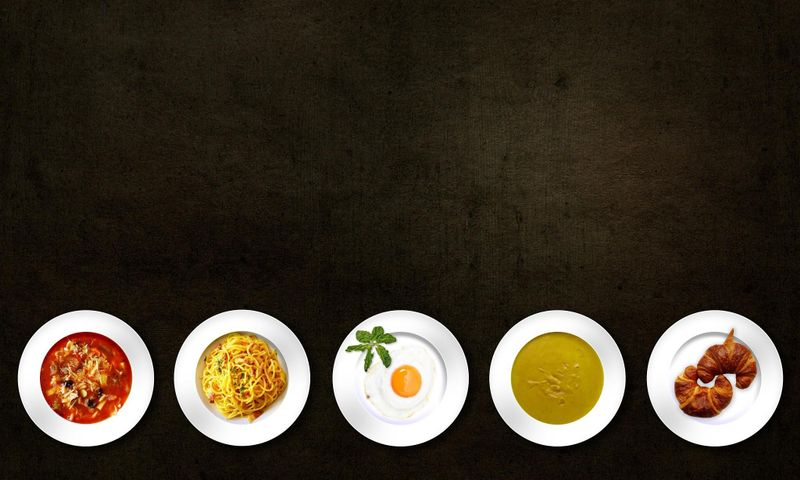 different dishes