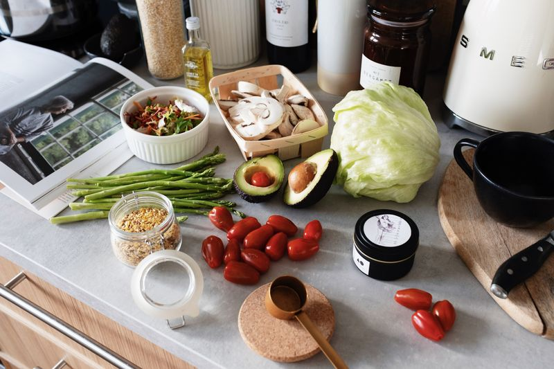 preparing the ingredients for cooking