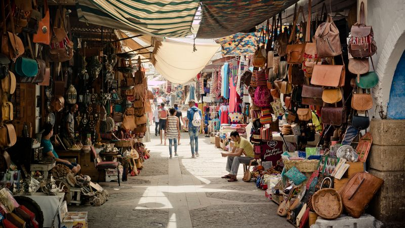 morocco marketplace travel