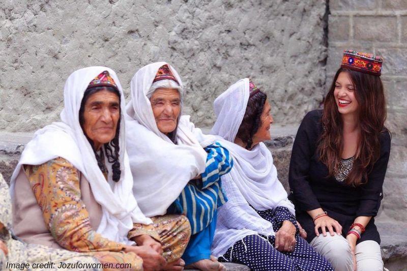 woman traveling in Pakistan