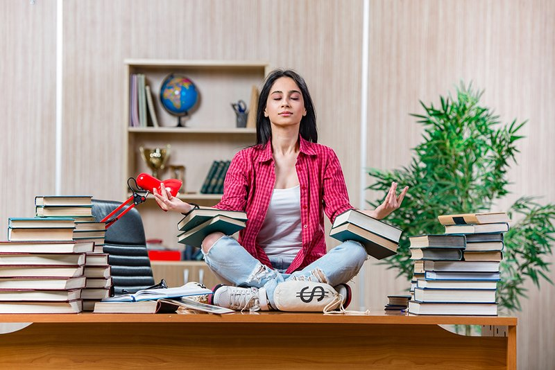 meditation in the study