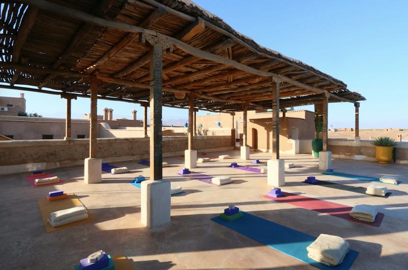 Morocco yoga retreat studio terrace