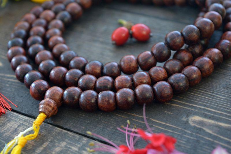 rosewood shambala mala beads