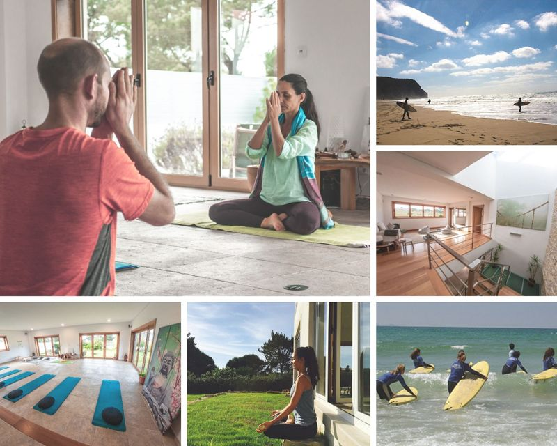 surf and yoga holiday in sintra, portugal