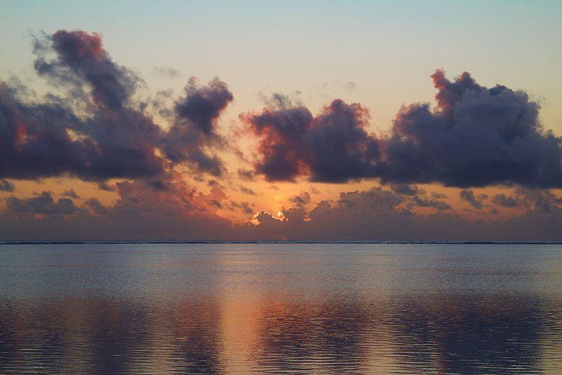 sun setting in zanzibar