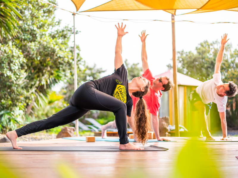 join an in-person yoga retreat