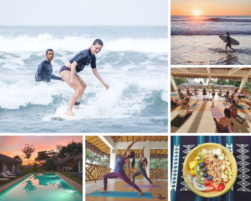 6 Day Beachfront Personal Yoga and Surf Retreat in Olon