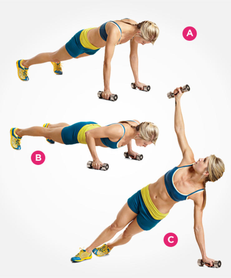 dumbbell-pushup
