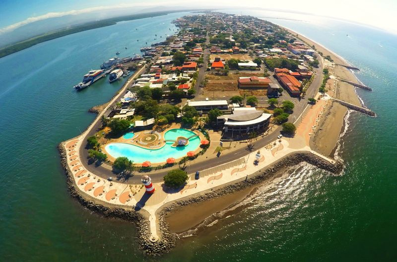 puntarenas beach aerial view