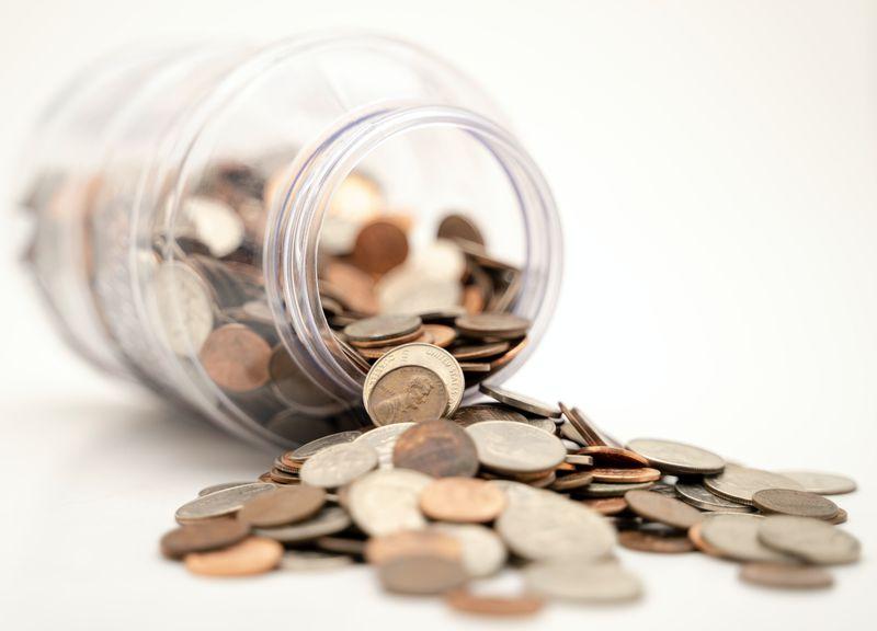 a jar used as a piggy bank