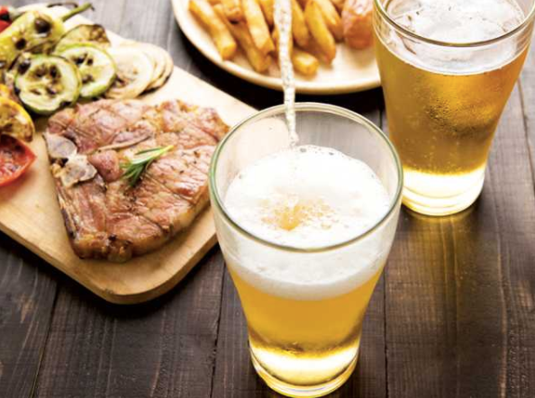 beer and steak