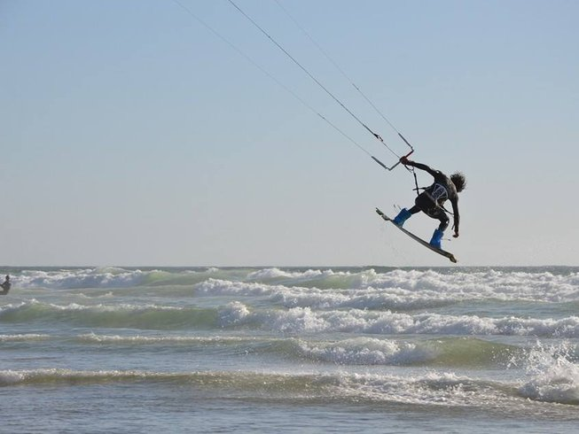 Kite surfing in Morocco
