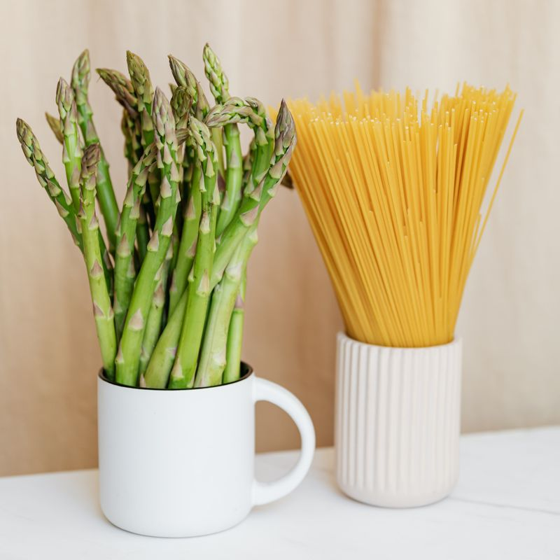 pasta and asparagus