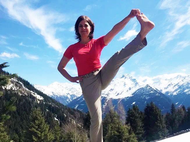yoga in german alps