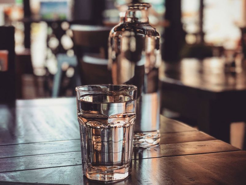 drink water glass concept photo