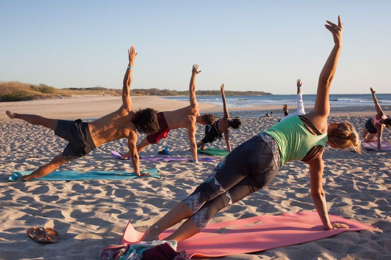 yoga retreat in tamarindo on the beach