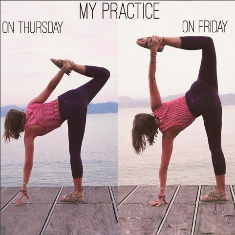 progression yoga sequence collage by vanessaandreah