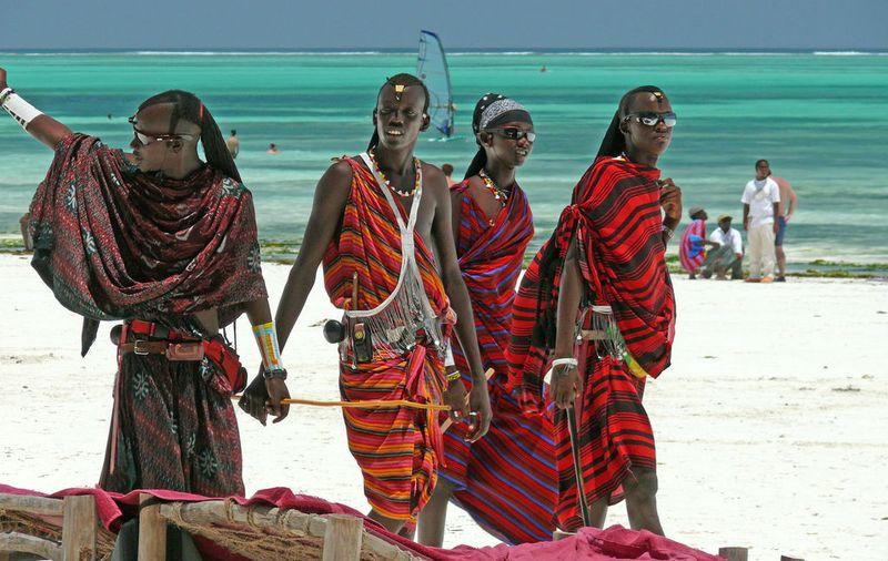 Masai guards in Zanzibar