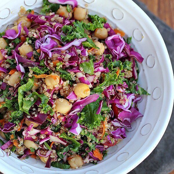 cabbage, fruits & chickpeas salad
