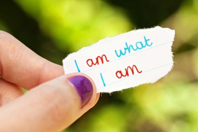 I am what I am self acceptance concept photo