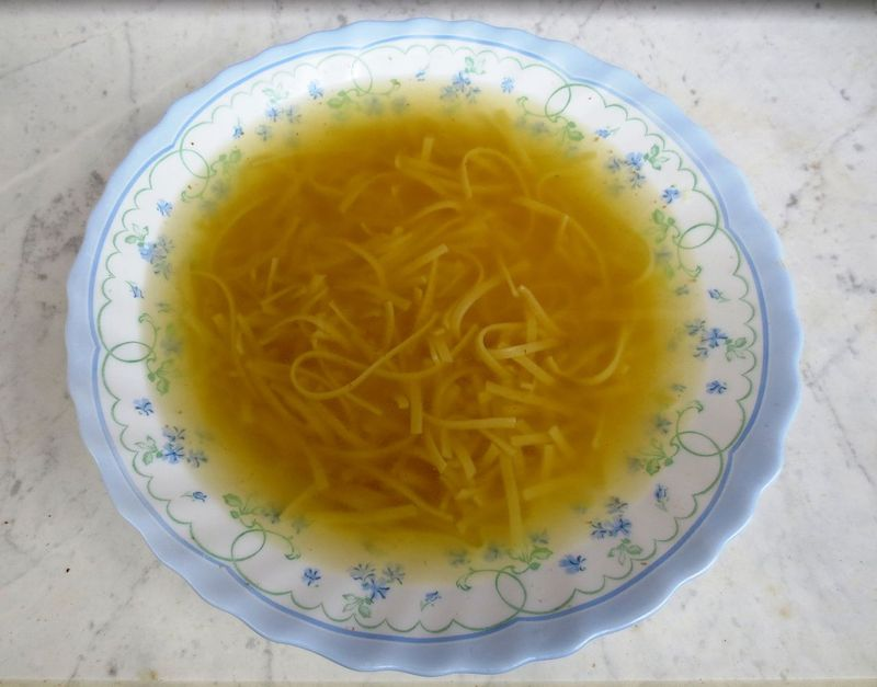 beef soup with noodles in slovenia