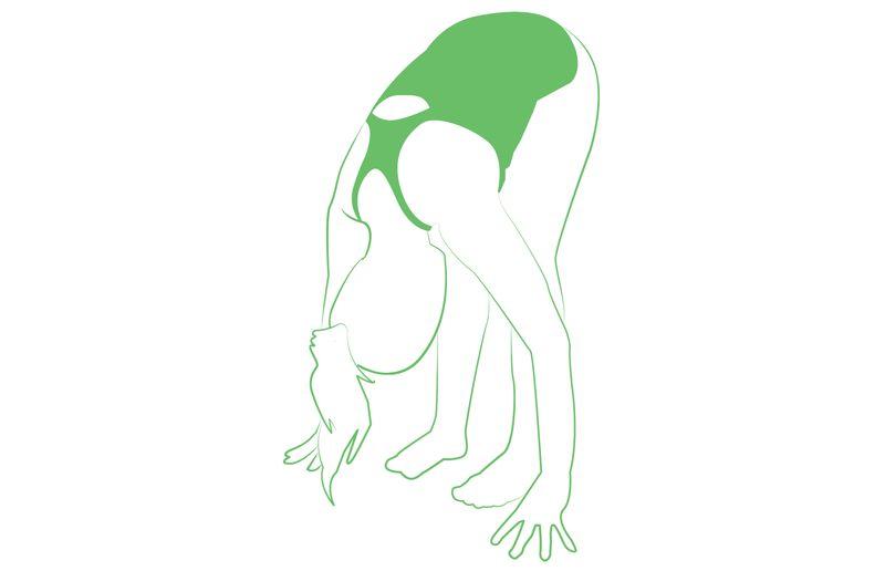forward fold yoga stretching move