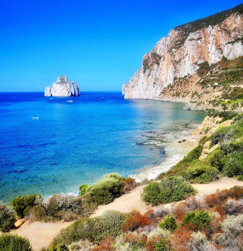 Sardinia cost line