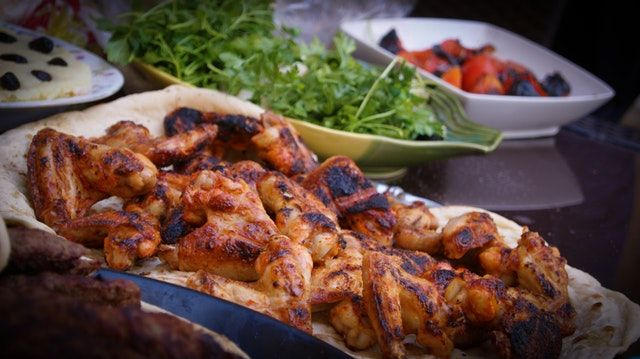 spicy Caribbean style chicken