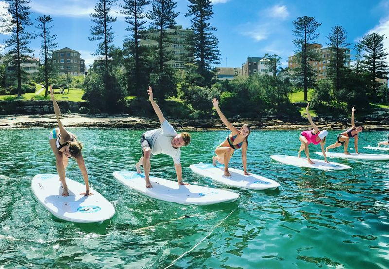 SUP yoga in australia