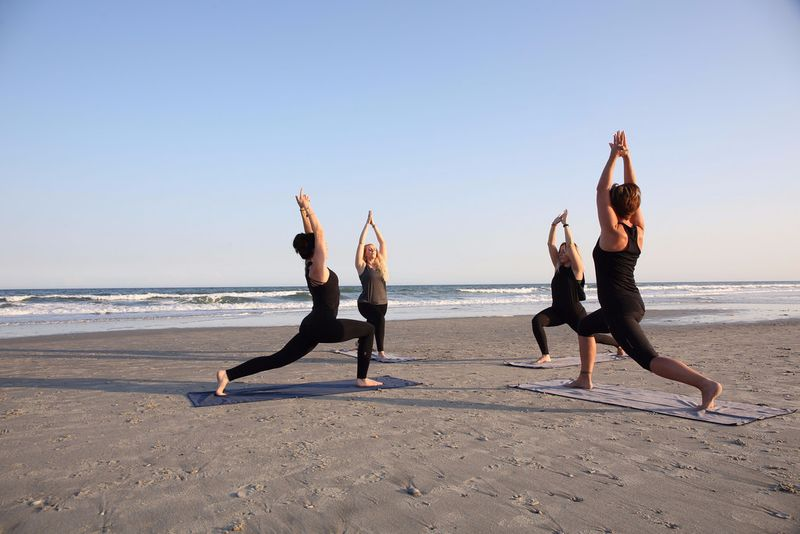 yoga on the beach in mexico