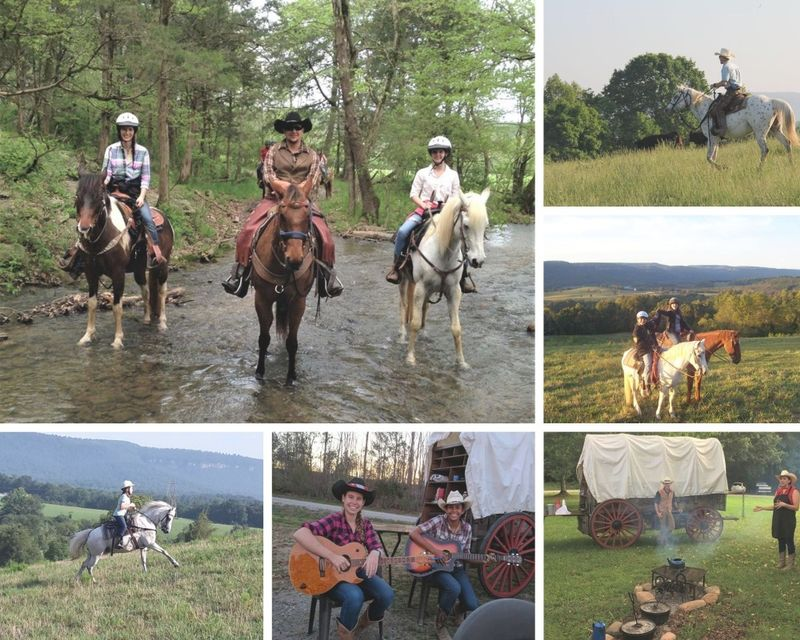 weekend horse riding in USA - 4 day life of a cowboy dude ranch in Tennessee