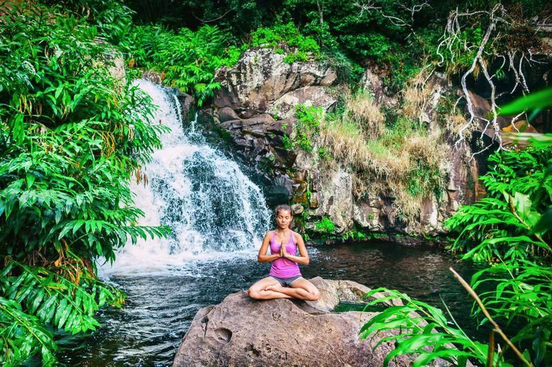 practicing yoga in costa rica