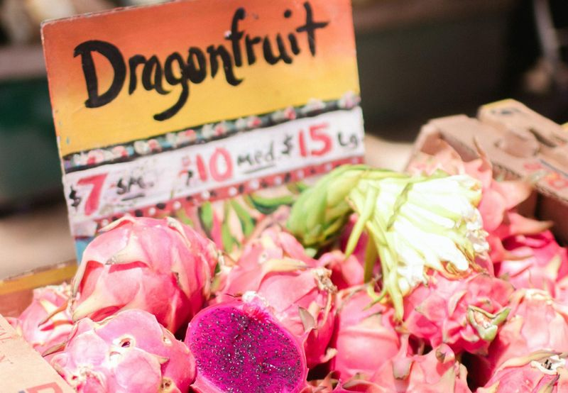 dragonfruit at the market