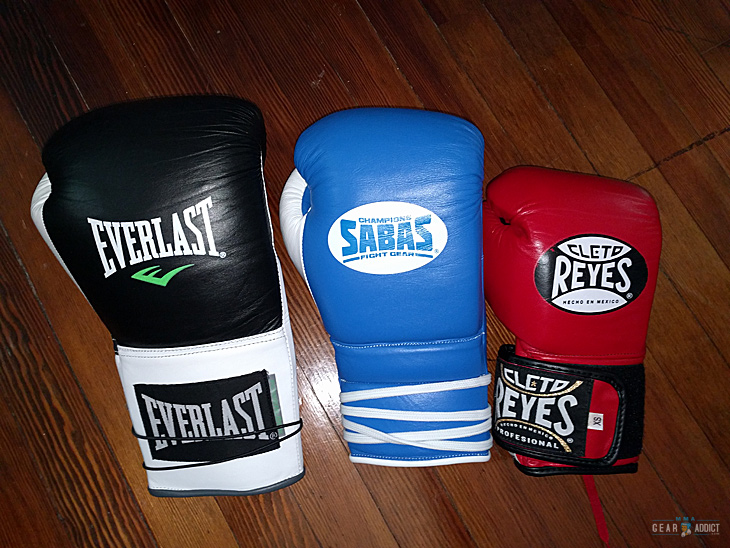 gloves for different weight class in boxing