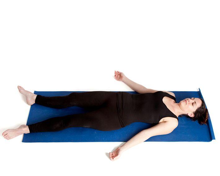 corpse pose yoga asana