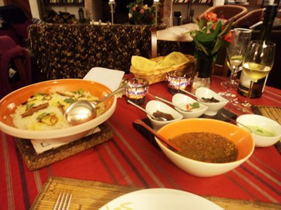 four days at mapuyampay - indian food