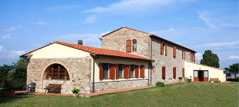 casale stone brick house for yoga retreat